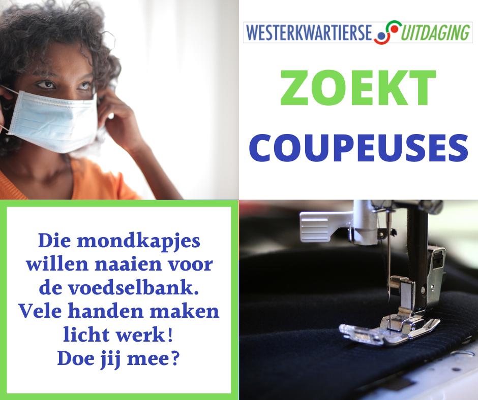 Coupeuses gezocht voor naaien mondkapjes Voedselbank
